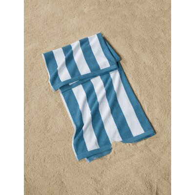 Cabana Striped Beach Towel Color: Blue/White