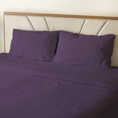 Turberville Microfiber 4 Piece Sheet Set Color: Purple, Size: Queen