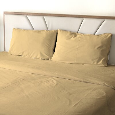 Erlandson Egyptian-Quality Cotton Feel Extra Soft 1800 Thread Count Microfiber Sheet Set Size: King, Color: Cream