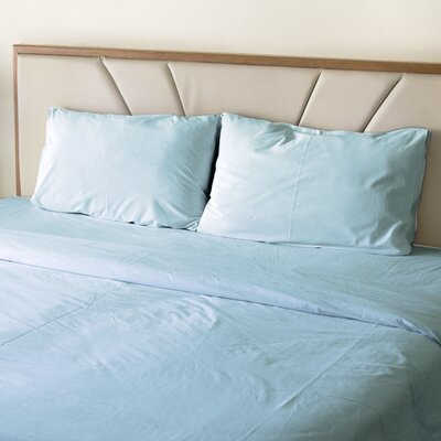 Turberville Microfiber 4 Piece Sheet Set Color: Aqua, Size: Queen
