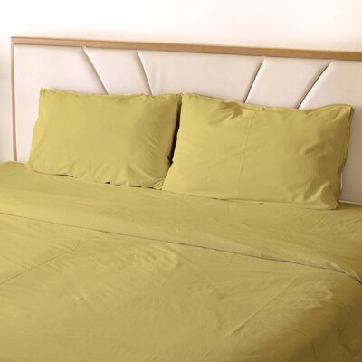 Erlandson Egyptian-Quality Cotton Feel Extra Soft 1800 Thread Count Microfiber Sheet Set Size: King, Color: Gold