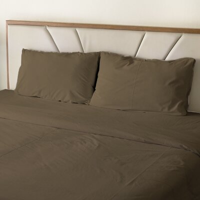 Erlandson Egyptian-Quality Cotton Feel Extra Soft 1800 Thread Count Microfiber Sheet Set Size: King, Color: Taupe