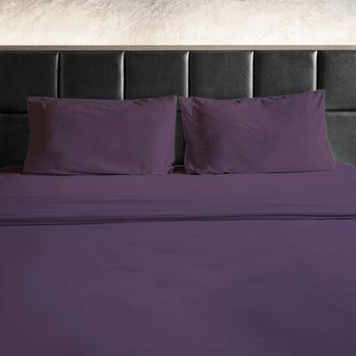 Erler 1800 Thread Count Microfiber Sheet Set Size: King, Color: Purple