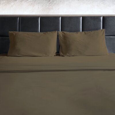 Erler 1800 Thread Count Microfiber Sheet Set Size: Twin, Color: Taupe