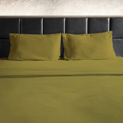 Erler 1800 Thread Count Microfiber Sheet Set Size: Full/Double, Color: Gold
