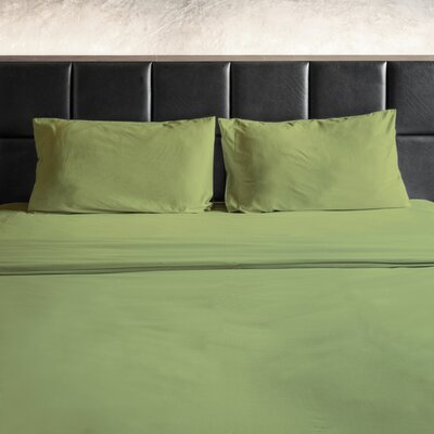 Erler 1800 Thread Count Microfiber Sheet Set Size: Full/Double, Color: Sage Green