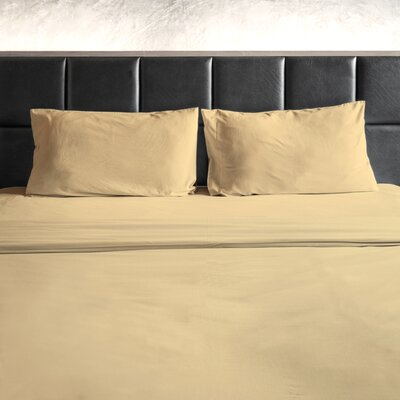 Erler 1800 Thread Count Microfiber Sheet Set Size: Full/Double, Color: Cream