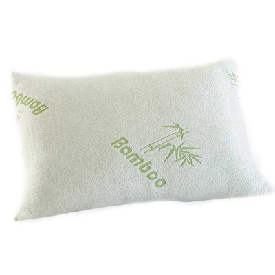 Zipper Memory Foam Pillow Size: Queen