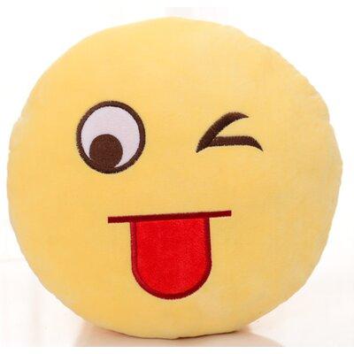 Naughty Face Plush Expression Emoji Throw Pillow