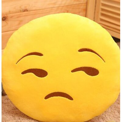 Emoji Series Mini Expression Decline Face Cotton Throw Pillow