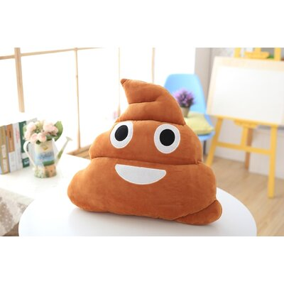 Emoji Series Expression Poop Cotton Throw Pillow