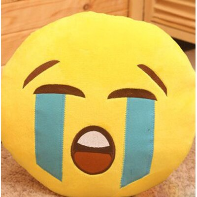 Emoji Series Mini Expression Cry Face Cotton Throw Pillow