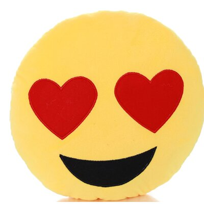 Emoji Series Mini Expression Heart Eyes Face Throw Pillow