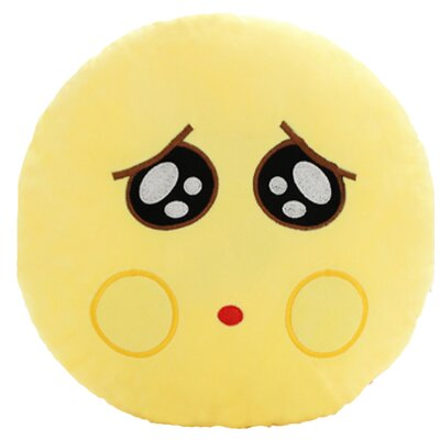 QQ Series Emoticon Pity Face Cotton Throw Pillow