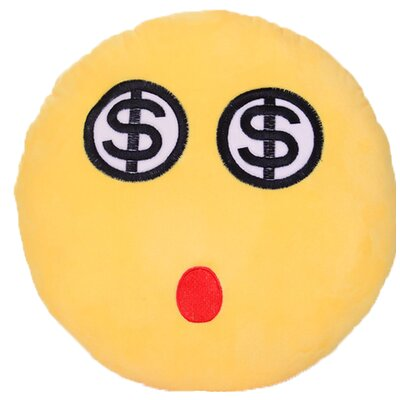 Emoji Series Expression Dollar Eyes Face Cotton Throw Pillow