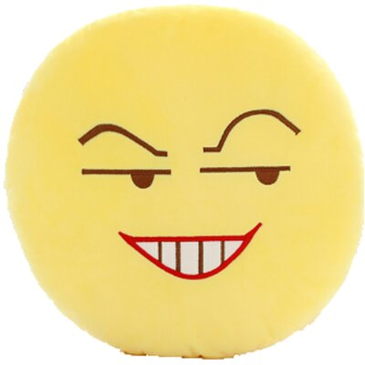 QQ Series Emoticon Grin Face Cotton Throw Pillow