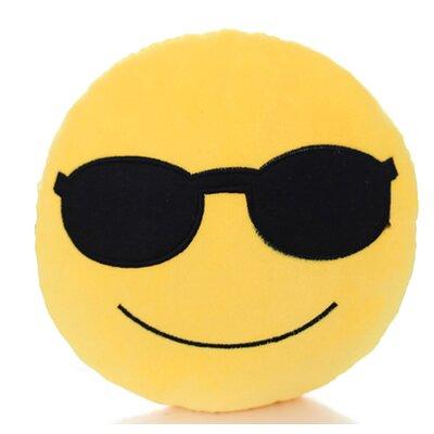 Emoji Series Mini Expression Cool Face Cotton Throw Pillow