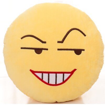 Emoji Series Expression Insidious Face Cotton Throw Pillow