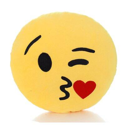Emoji Series Mini Expression Kiss Face Cotton Throw Pillow