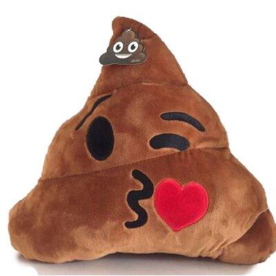 Emoji Series Expression Kiss  Cotton Throw Pillow