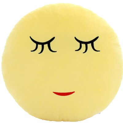 QQ Series Emoticon Shy Face Cotton Throw Pillow
