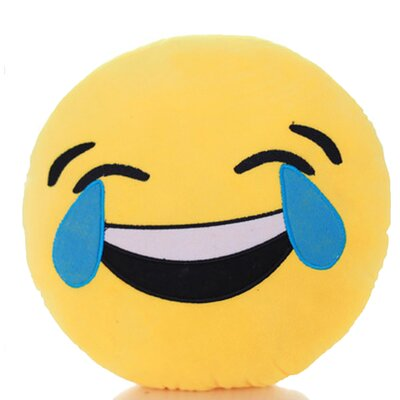 Emoji Series Mini Expression Tears of Joy Face Throw Pillow