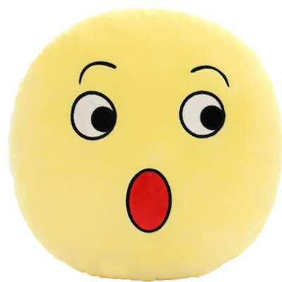 QQ Series Emoticon Surprise Face Cotton Throw Pillow