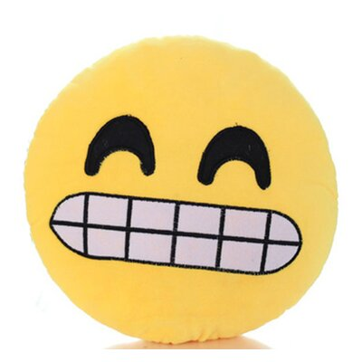 Emoji Series Mini Expression Growl Face Cotton Throw Pillow