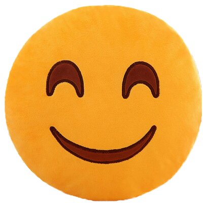 Emoji Series Expression Sweet Smile Face Cotton Throw Pillow