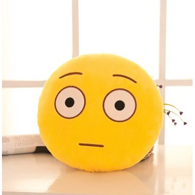Emoji Series Mini Expression Daze Face Cotton Throw Pillow