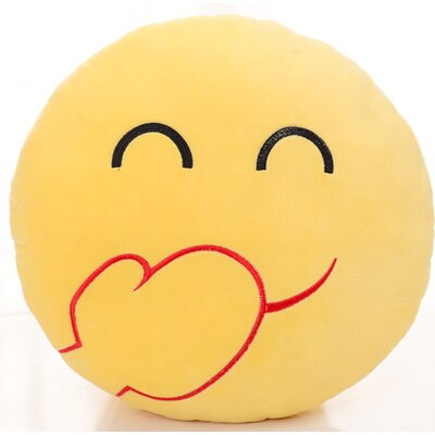 Emoji Series Expression Laughing Face Cotton Throw Pillow