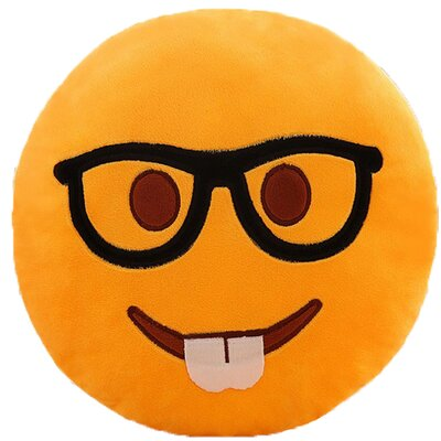Emoji Series Expression Geek FaceCotton Throw Pillow
