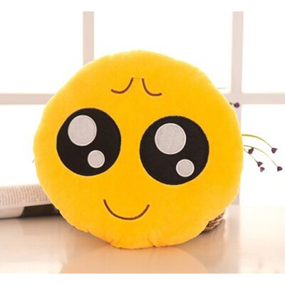 Emoji Series Mini Expression Obident Face Cotton Throw Pillow