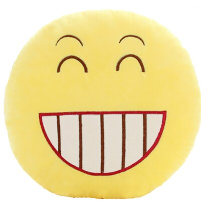 QQ Series Emoticon Big Grin FaceCotton Throw Pillow