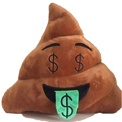Emoji Series Expression Money Face Poop Cotton Throw Pillow