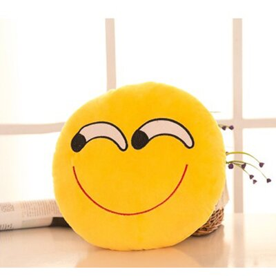 Emoji Series Mini Expression Askance Face Cotton Throw Pillow