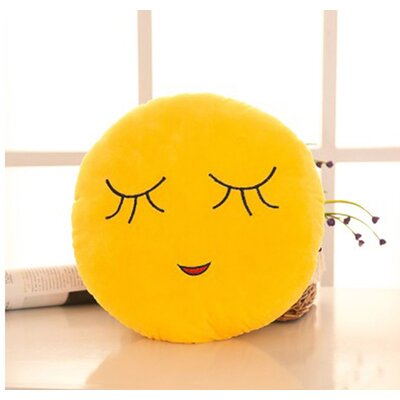 Emoji Series Mini Expression Shy Face Cotton Throw Pillow