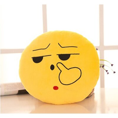 Emoji Series Mini Expression Picking Nose Face Cotton Throw Pillow