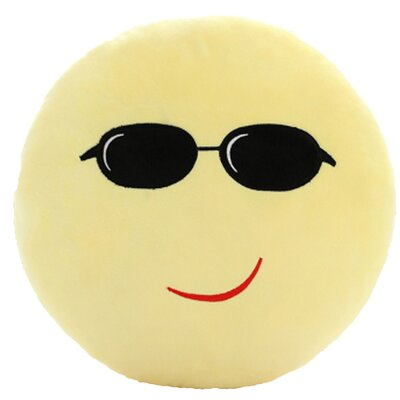 QQ Series Emoticon Proud Face Cotton Throw Pillow