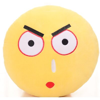 Emoji Series Expression Daze Face Cotton Throw Pillow