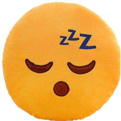 Emoji Series Expression zZZ Sleeping Face Cotton Throw Pillow