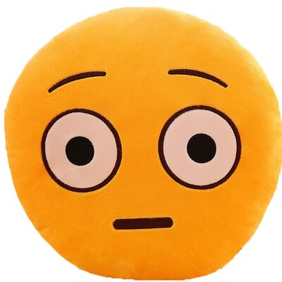 Emoji Series Expression Shocked Face Cotton Throw Pillow