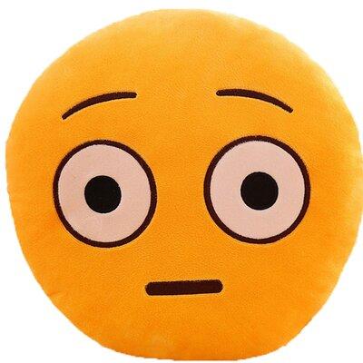 Emoji Series Expression Shocked Face Cotton Throw Pillow