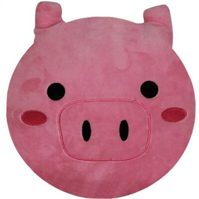 Emoji Series Expression Pig Face Cotton Throw Pillow