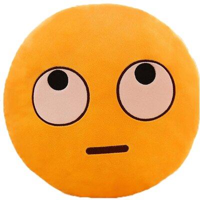 Emoji Series Expression Big Eyes Face Cotton Throw Pillow
