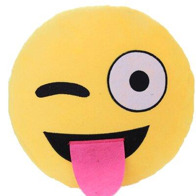 Emoji Series Mini Expression Naughty Face Cotton Throw Pillow