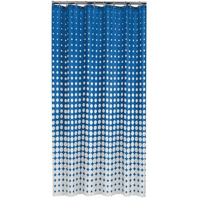Speckles Shower Curtain Color: Blue