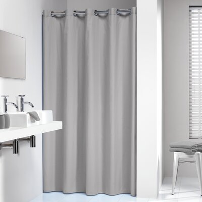 Jethro Solid Shower Curtain Color: Gray