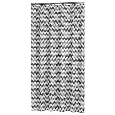 Chevron Shower Curtain Color: Black