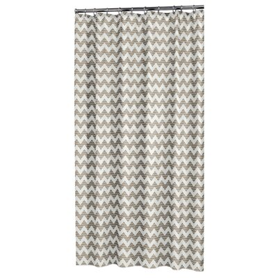 Chevron Shower Curtain Color: Beige
